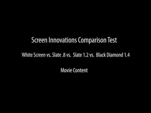 Screen Innovations Real Life Comparison Test - Full Natural Light - Part 1