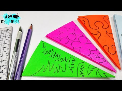 4 Amazing Paper Cutting Design | How to make simple and easy paper cutting designs | Paper Art