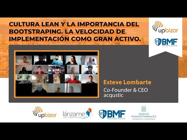 Masterclass de Esteve Lombarte - BMF Business School #1