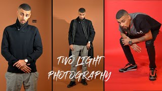 Two Light Photography Setup + Godox AD200 + Godox V1
