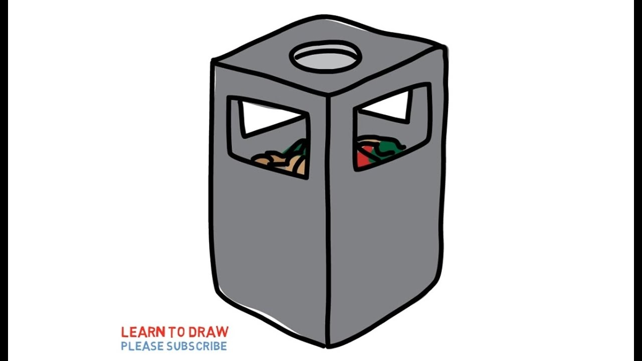 easy step for kids how to draw a trash can youtube