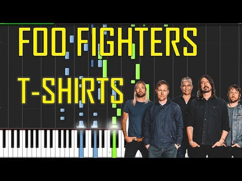 Foo Fighters T Shirts Piano Tutorial Chords How To Play
