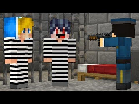 Охрана ПОЙМАЛА Преступников в Майнкрафт! КОПЫ против ПРЕСТУПНИКИ и Побег из Тюрьмы Minecraft Нуб!