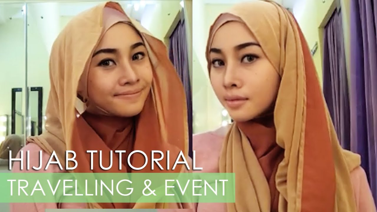 HIJAB TUTORIAL FOR TRAVELLING TUTORIAL JILBAB SANTAI IRNA DEWI