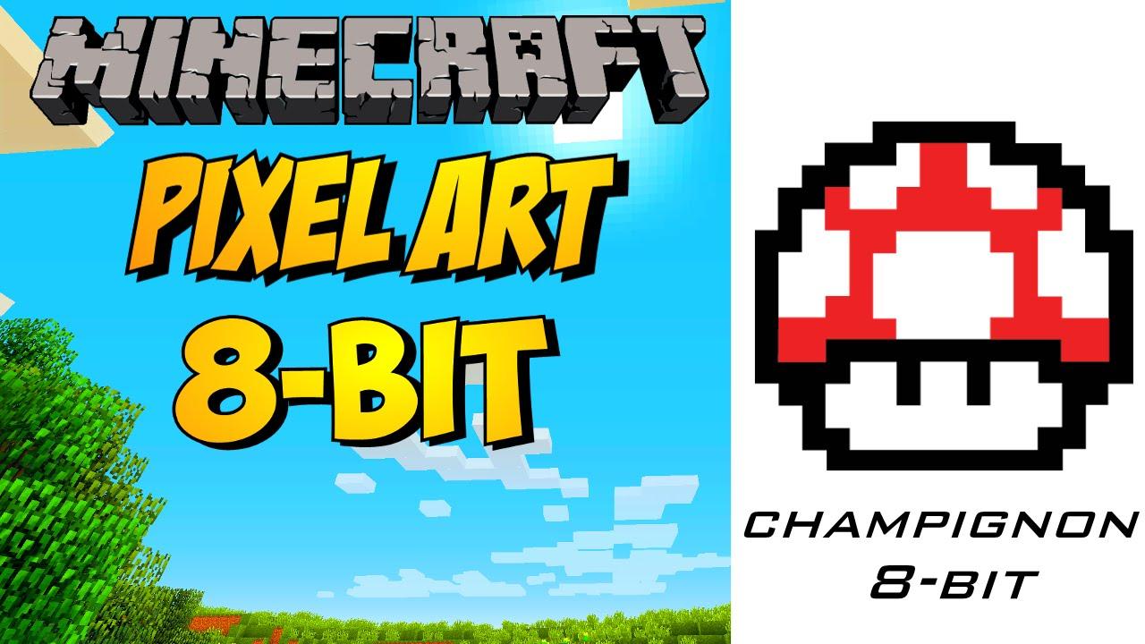 Champignon Mario Pixel Art Minecraft