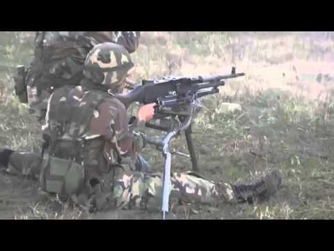 Entrenamiento con FN MAG Ejercito Argentino