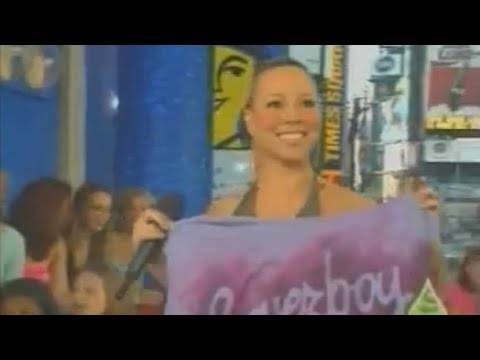 Mariah Carey's surprise appearance on Total Request Live MTV 2001