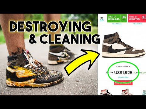 DESTROYING & CLEANING DIRTIEST TRAVIS SCOTT JORDAN 1