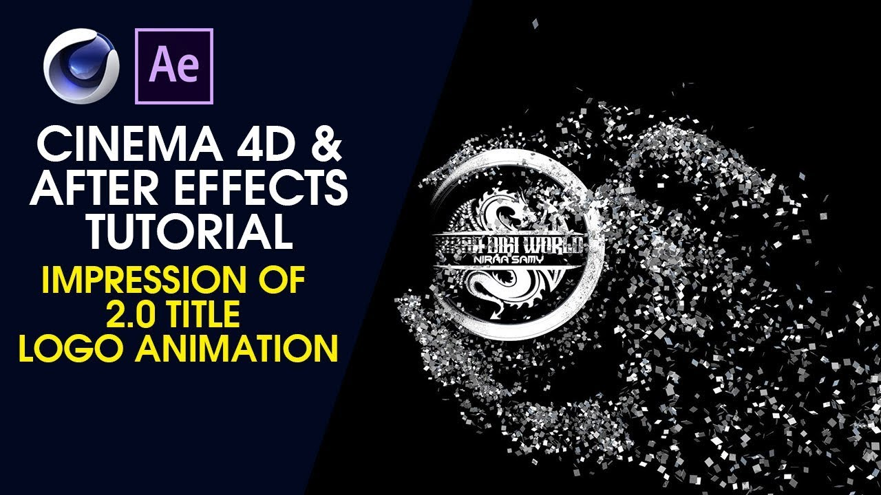 Impression of 2 0 title Logo Animation - Cinema 4D and After Effects  Tutorial