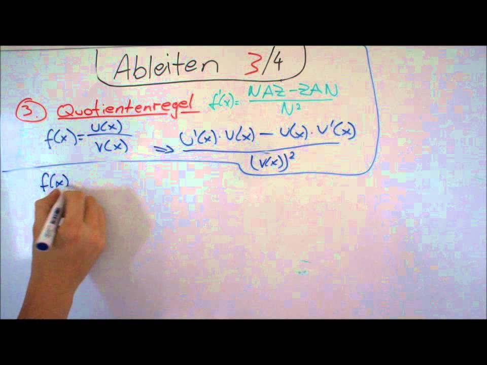 Ableiten 3 von 4 -- Quotientenregel - Lerntippsammlung.de - YouTube