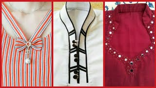 Latest Top Trending Designer Neck Designs 2019// Classy Neck Designs