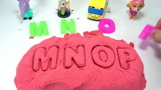 Learn Colors with Kinetic Sand Rainbow ABC Alphabet Song Fun For Kids