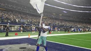 Dez Bryant waving the Dallas Cowboys Flag