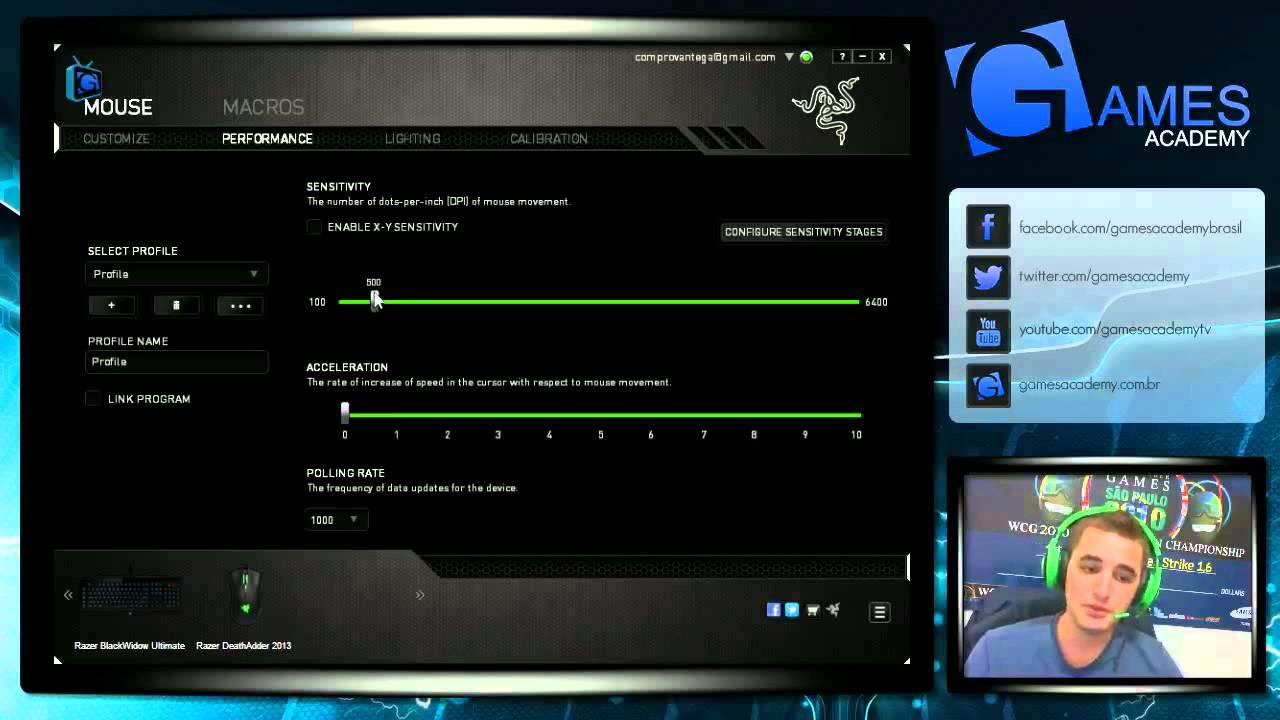 GA TV - Configurando seu Razer DeathAdder 2013