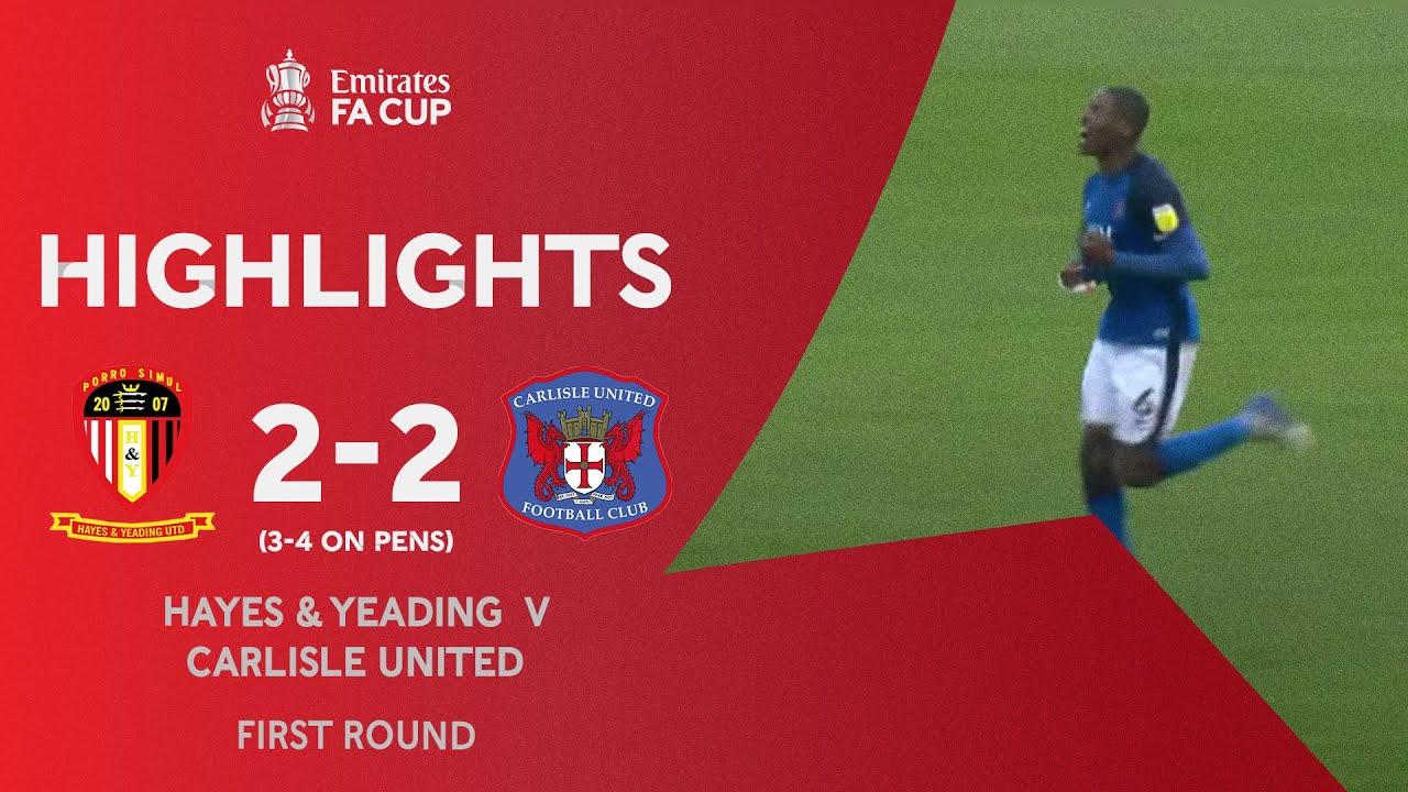 Extra-Time Thriller!   Hayes & Yeading 2-2 Carlisle United (3-4 on pens)   Emirates FA Cup 2020-21