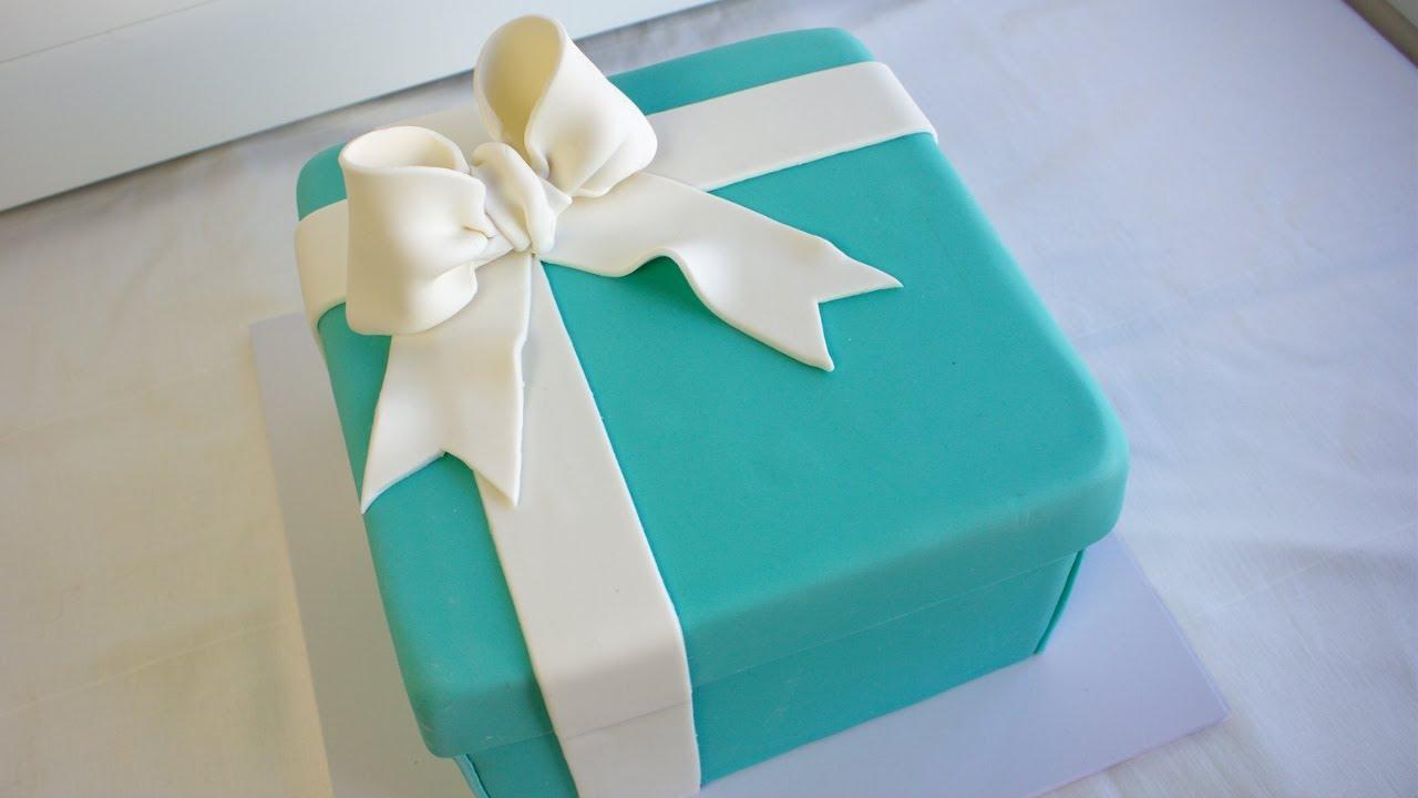 Tiffany Gift Box Cake Tutorial Youtube
