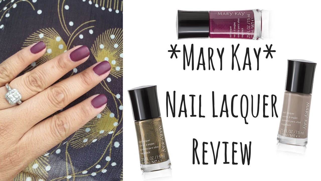 Mary Kay Review: Limited Edition Nail Lacquer | Alicia Olsen - YouTube