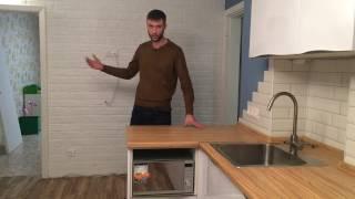 Смотреть видео холодильник на кухне шире столешницы
