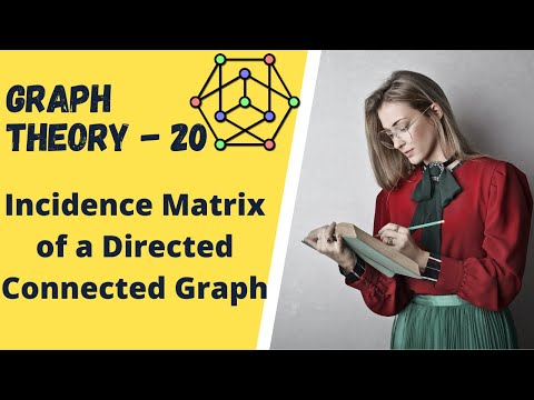Graph Theory -20 Incidence Matrix of a Directed Connected Graph