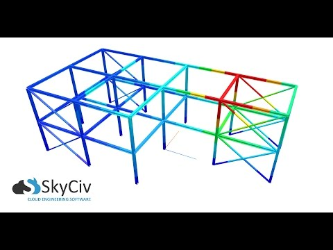 Modelling a Frame Structure | SkyCiv Structural 3D Cloud Engineering Software