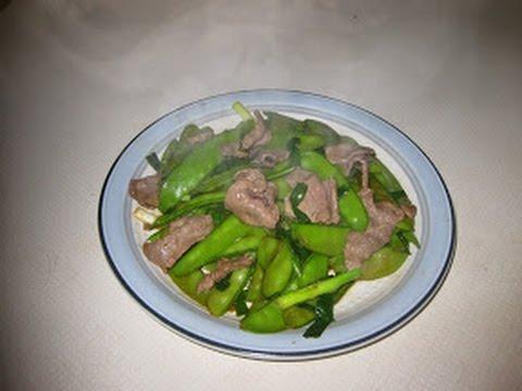 Snow Peas & Beef Stir Fry (THIT BO XAO DAU) - how to make, fast ...