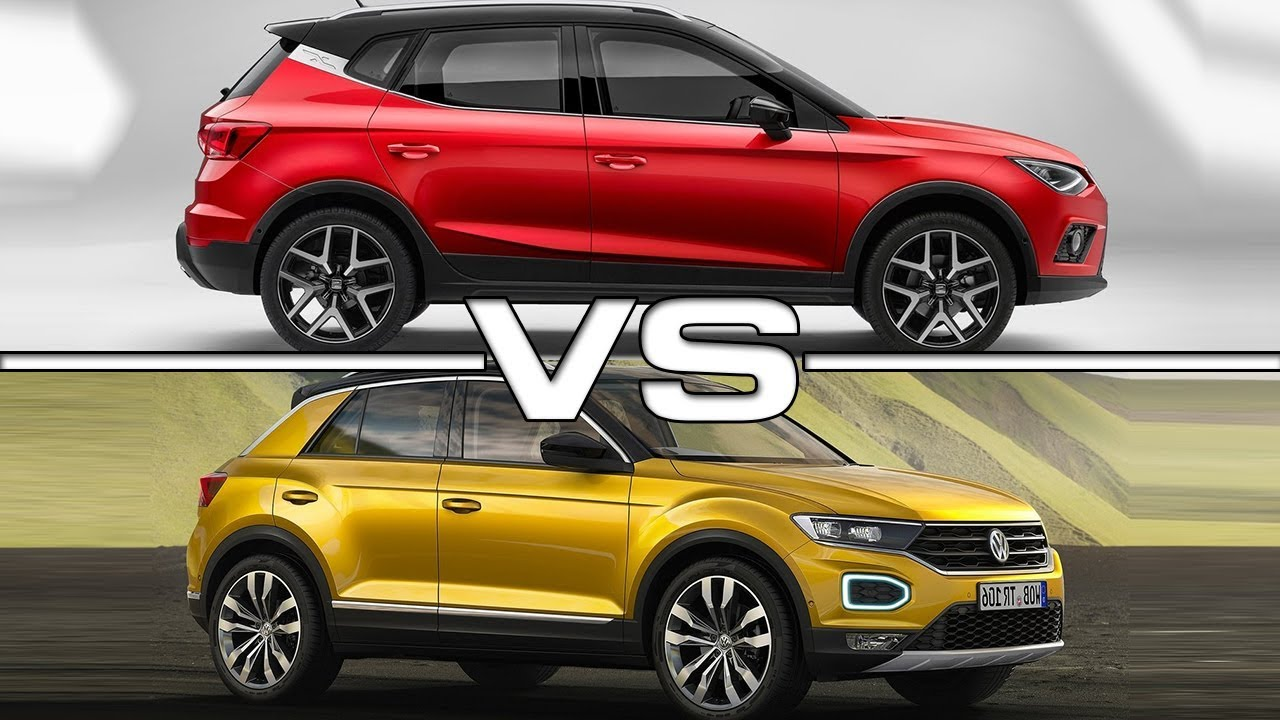 2018 Seat Arona Vs 2018 Volkswagen T Roc Youtube