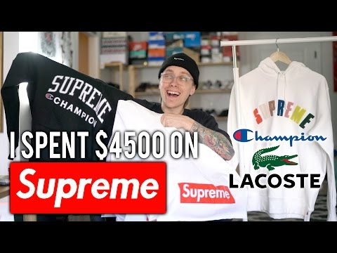 I spent $4500 on SUPREME | CHAMPION, LACOSTE UNBOXING