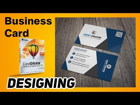 How to make a business card in Corel Draw X6 with free software | Hindi  Tutorial  2019 | Part #  1 thumbnail