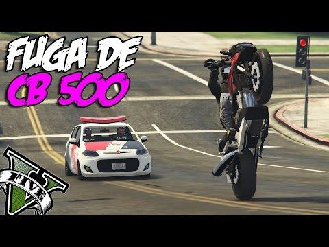GTA V - FUGA DE CB 500 - ( MC Gu SP Arte Proibida )