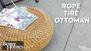 Rope Tire Ottoman