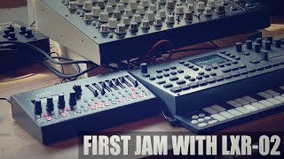 Oora // First Jam with Erica Synths + Sonic Potions LXR-02 Drum Synthesizer