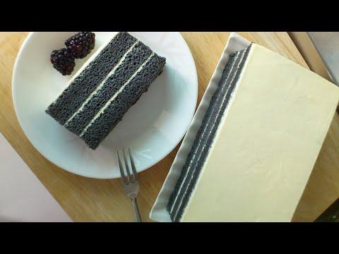 Bamboo Charcoal Cake (竹碳蛋糕) Black Velvet Cake **