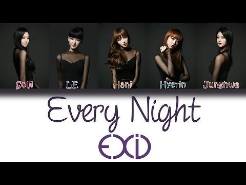 EXID (이엑스아이디) - Every Night (매일밤) | Han/Rom/Eng | Color Coded Lyrics |