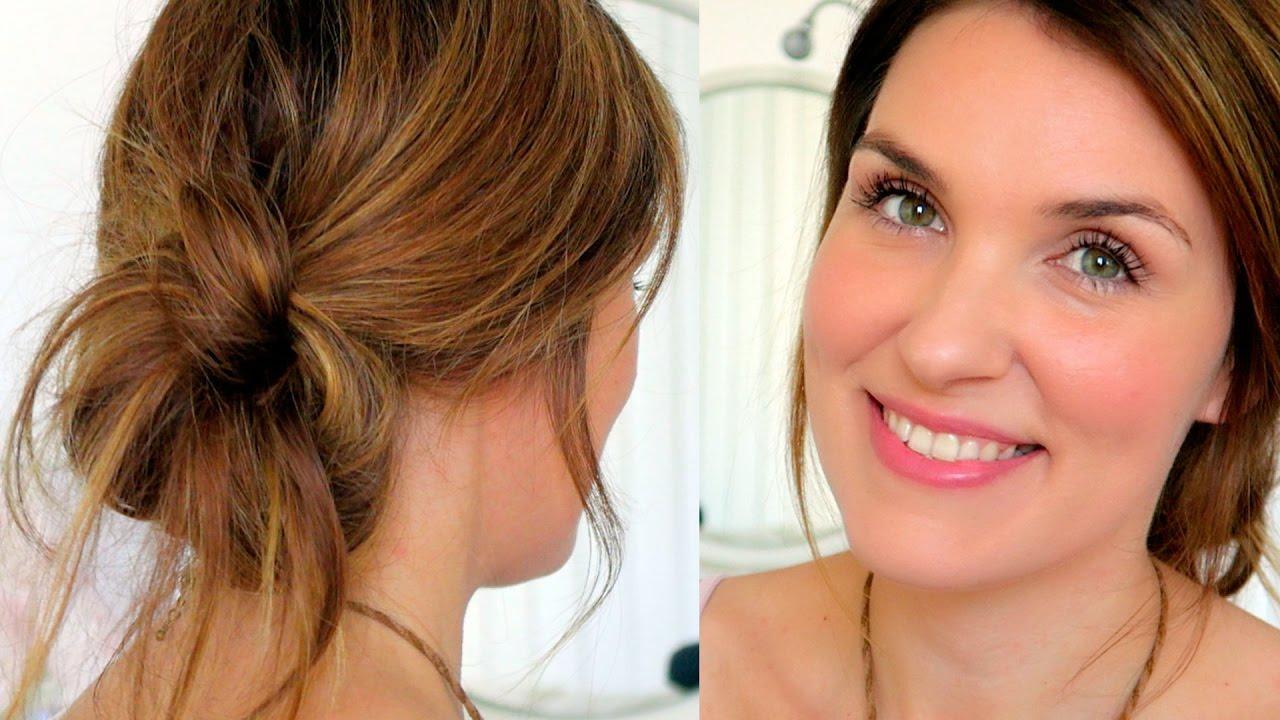 Maquillaje para el cabello recogido