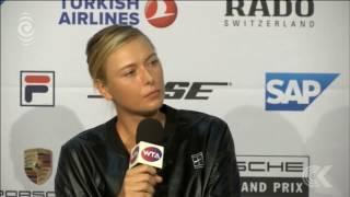 Sharapova returns from doping ban triumphant