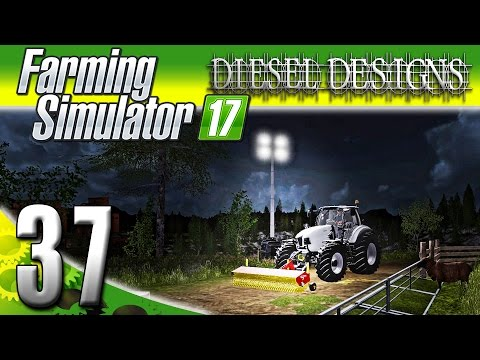 Farming Simulator 2017 Gameplay :EP37: Flood Lights & Sweeper Mod! (PC HD Goldcrest Valley)