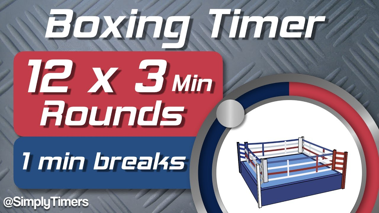 12 round boxing match training timer 12 x 3min with 1 min breaks