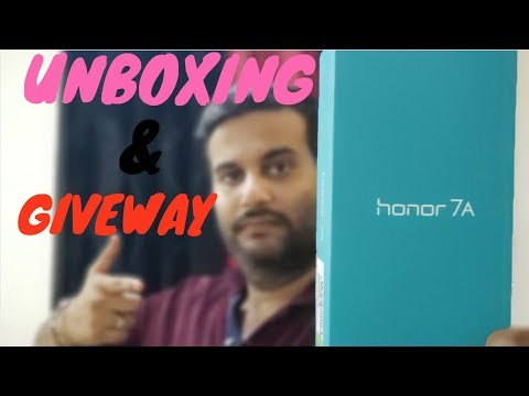 Honor 7A - Unboxing Overview & My First Impressions (2018) (GIVEAWAY)