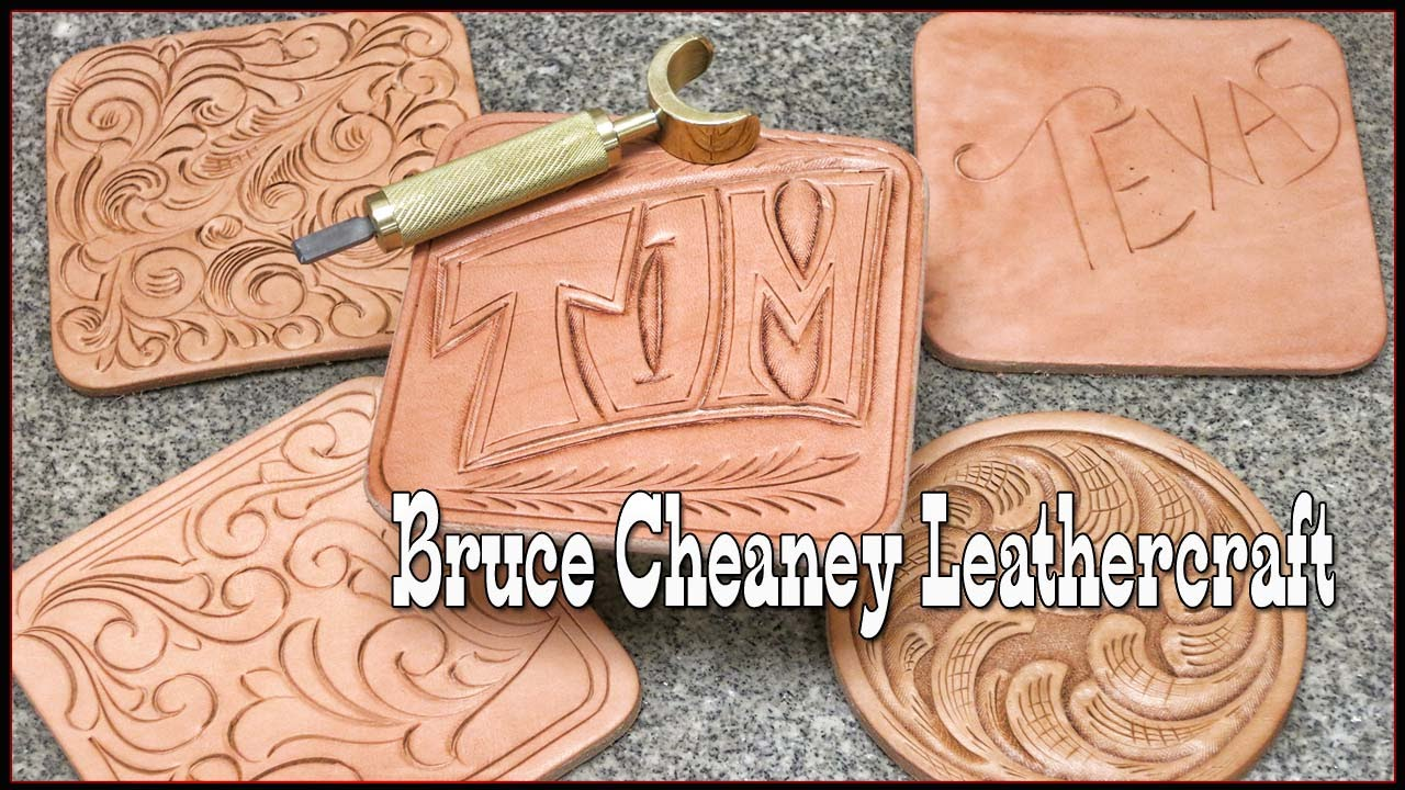 Swivel knife how to hand carve names into leather leather