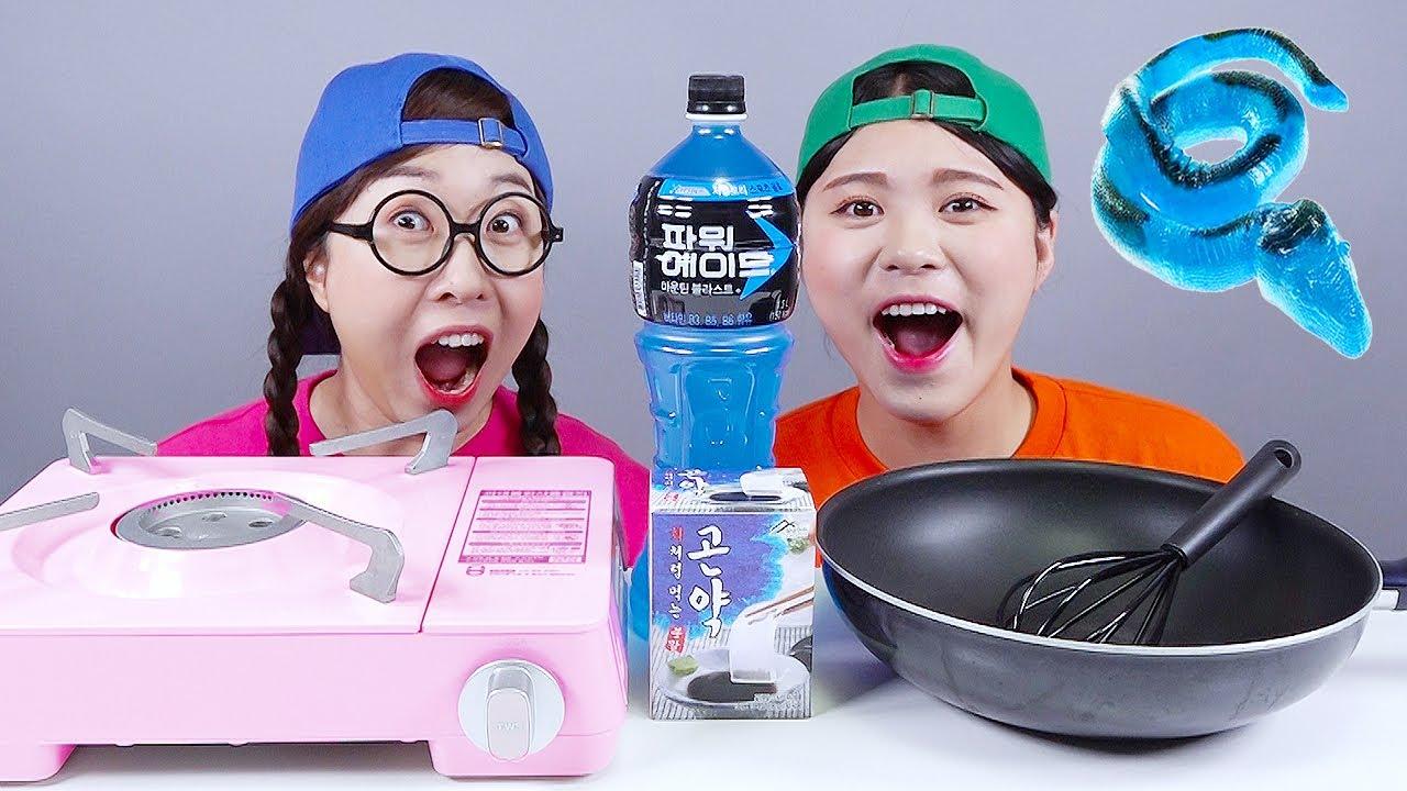 How to Make Giant Jelly DONA Mukbang
