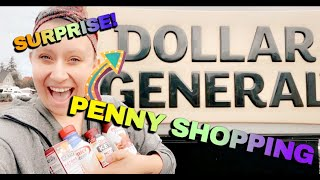 SURPRISE PENNY LIST!!!  |  Penny Shopping at Dollar General  |  PLUS FREE PIZZA!