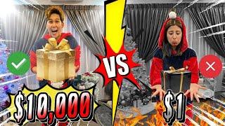 聖誕節殘酷考驗 ! $10000 VS $ 1 的禮物你願意交換嗎?換個禮物搞到火藥味濃厚!有人還現場淚崩!(Jeff & Inthira)