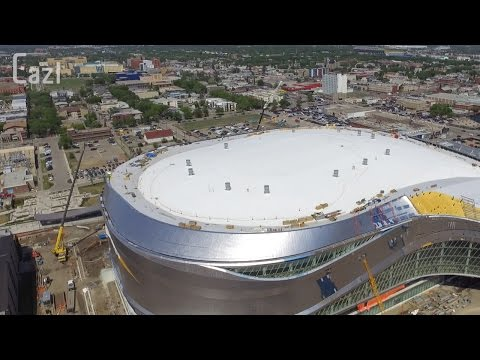 Drone Footage of the New Edmonton Oilers Stadium (Rogers Place)