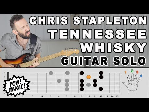 Tennessee Whisky Guitar Solo - FretLIVE Lesson & Exploration - Chris Stapleton