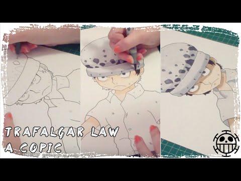 COPIC SPEEDPAINT TRAFALGAR LAW | Dibujando con PIKCAL