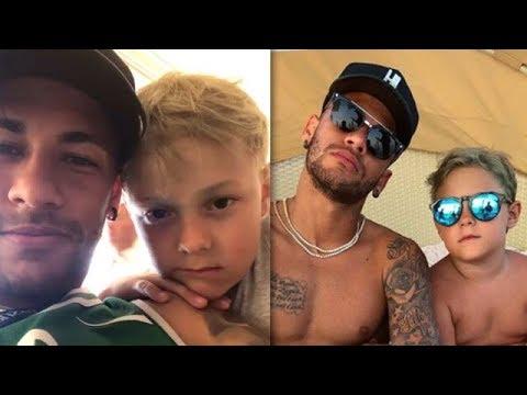 Neymar e filho passam dia juntos