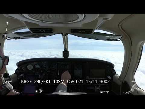 GPS Rwy 36 Approach into Winchester Municipal Airport (KBGF)