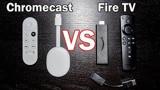 NEW Chromecast with Google TV vs Fire TV Stick 4K