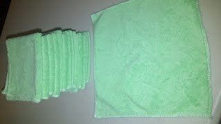 DIY - How to make your own Baby Wash Cloths