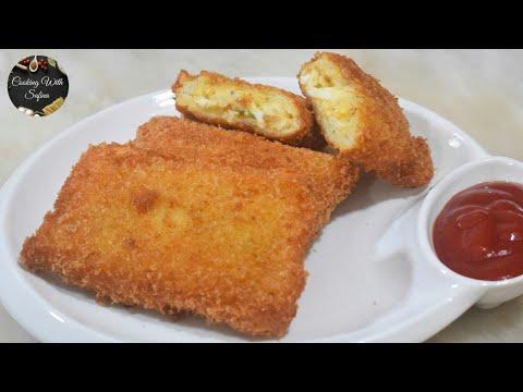 Bread Pockets Recipe | Bread Rolls | Mayo Bread Pockets | Easy Bread Snacks Recipe